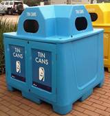 Cans Blue Recycling Igloo